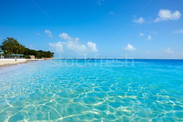 Foto stock: Clave · oeste · Florida · playa · cielo · agua