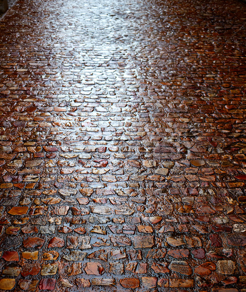 Zamora stone cobblestone floor texture Spain Stock photo © lunamarina