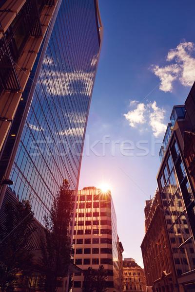 London pénzügyi negyed utca tér Anglia égbolt Stock fotó © lunamarina