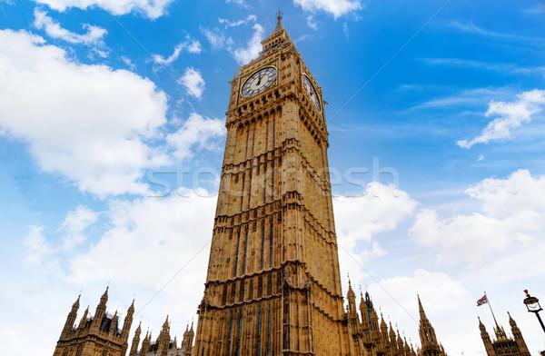 ビッグベン ロンドン クロック 塔 テムズ川 川 ストックフォト © lunamarina