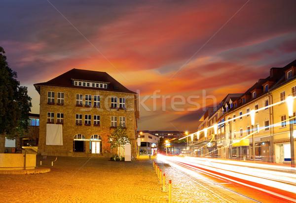 Ciudad puesta de sol Alemania verano viaje edificios Foto stock © lunamarina