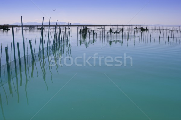 Albufera Valencia lake wetlands mediterranean Stock photo © lunamarina