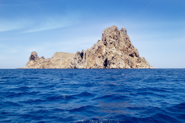 Ibiza Es Vedra island in Mediterranean blue Stock photo © lunamarina