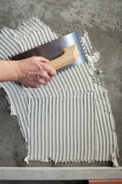 Photo stock: Construction · blanche · ciment · tuiles · travaux · texture