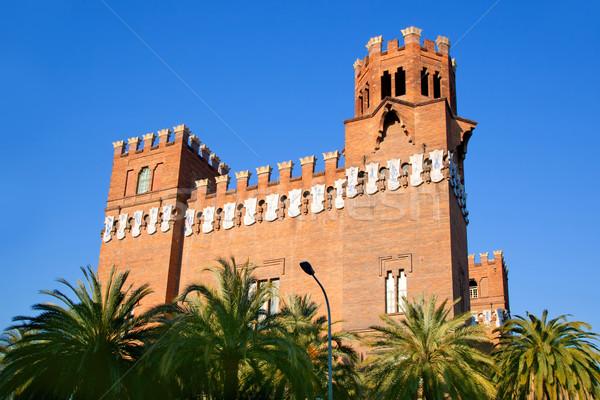 Barcelona három sárkány kastély égbolt épület Stock fotó © lunamarina