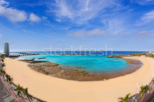 Stock photo: Arrecife Lanzarote Playa del Reducto beach