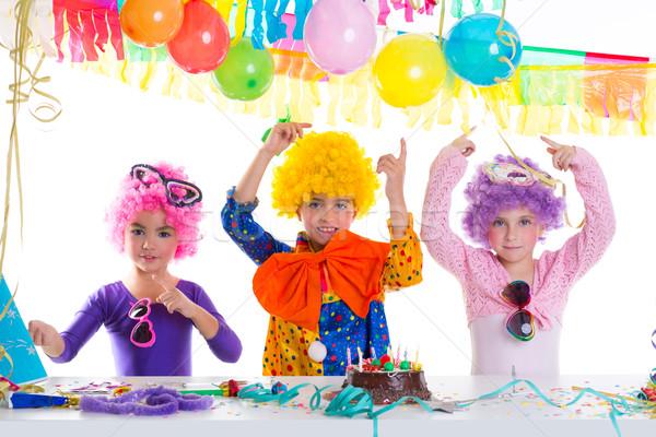 Stok fotoğraf: çocuklar · mutlu · yıllar · parti · palyaço · kız