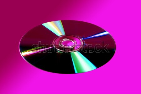 CD DVD disk with colorful reflexion Stock photo © lunamarina