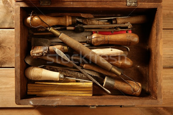 Stock photo: srtist hand tools for handcraft works