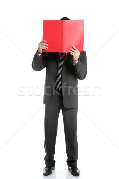 ビジネスマン 怖い 悪い知らせ レポート 顔 ストックフォト © lunamarina