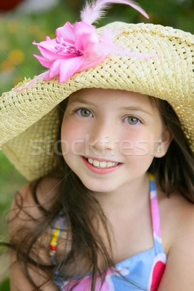 Closeup portrait of beautiful teen girl  Stock photo © lunamarina
