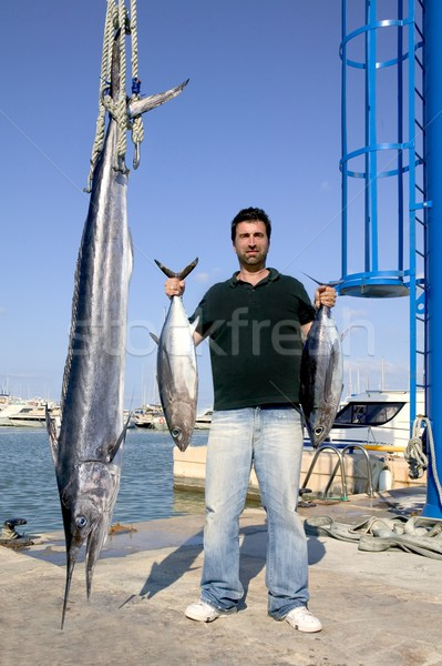 angler fish catch albacore tuna and spearfish Stock photo © lunamarina