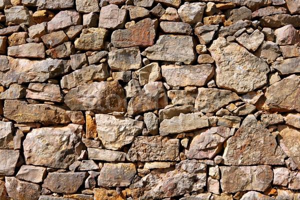 Kamieniarstwo Hiszpania starych kamień ściany mur Zdjęcia stock © lunamarina