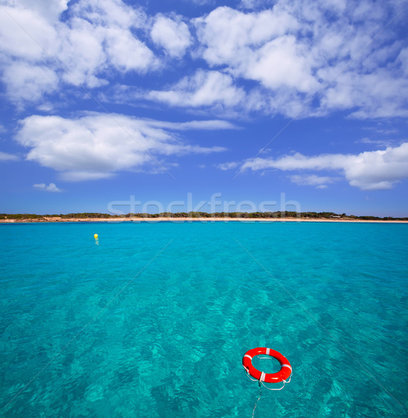 Formentera Illetes Illetas with round buoy Stock photo © lunamarina