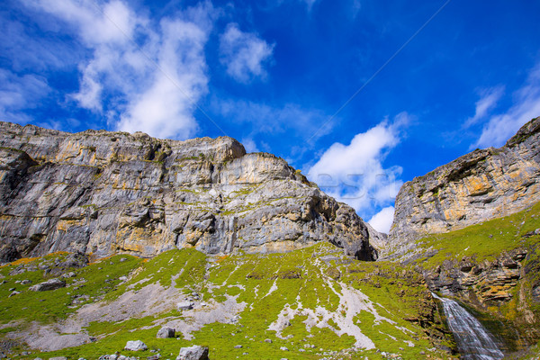 Cola vallei waterval bos natuur berg Stockfoto © lunamarina
