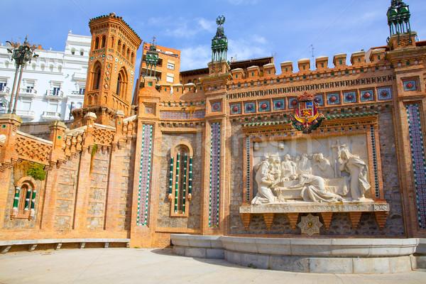Aragon Teruel Amantes fountain in La Escalinata Spain Stock photo © lunamarina