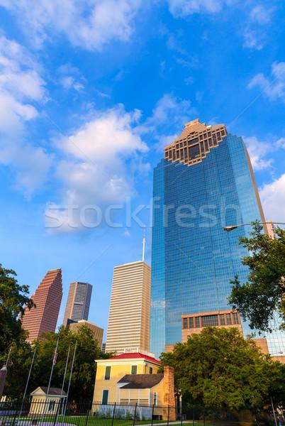 Houston sziluett park Texas égbolt út Stock fotó © lunamarina