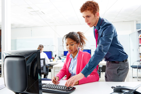 Business multi ethnic team working at offce desk  Stock photo © lunamarina