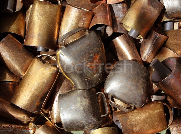 cowbell bell pattern texture in market shop Stock photo © lunamarina