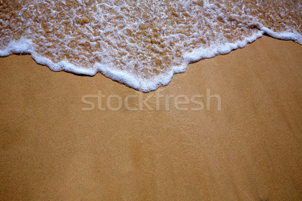 Canárias areia da praia onda textura água Espanha Foto stock © lunamarina