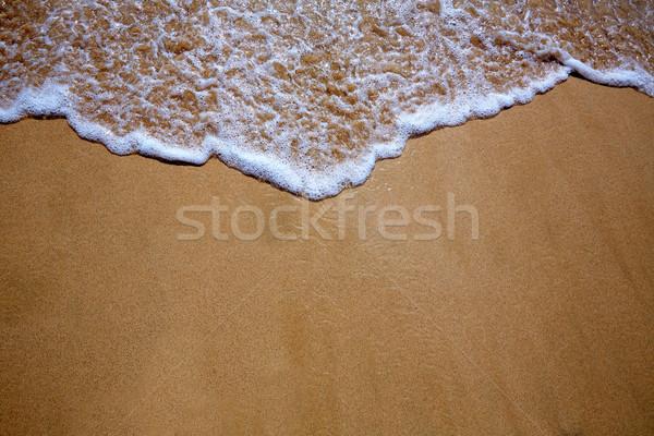 Canary Islands beach sand and wave texture Stock photo © lunamarina