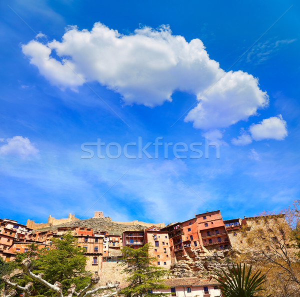 Albarracin medieval town in Teruel world heritage Stock photo © lunamarina