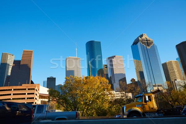 ヒューストン タウン スカイライン テキサス州 市 米国 ストックフォト © lunamarina