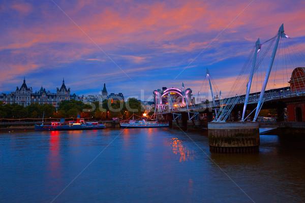 Londres pont thames rivière Angleterre ville Photo stock © lunamarina