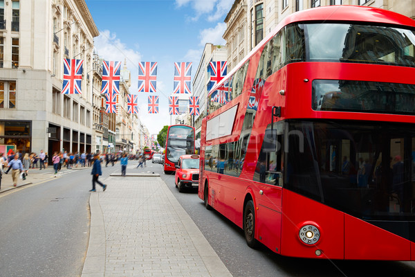 London bus Oxford Street W1 Westminster  Stock photo © lunamarina