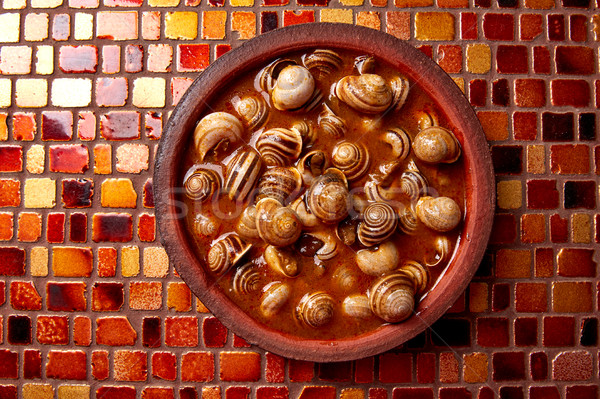 Tapas snail recipe from Spain Stock photo © lunamarina