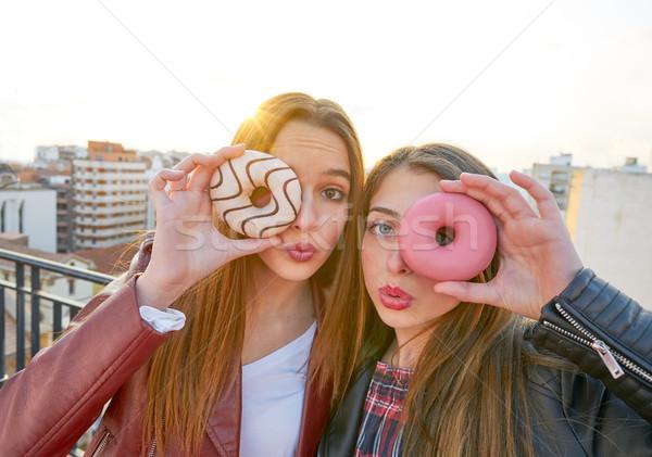 Genç kızlar portre göz Stok fotoğraf © lunamarina