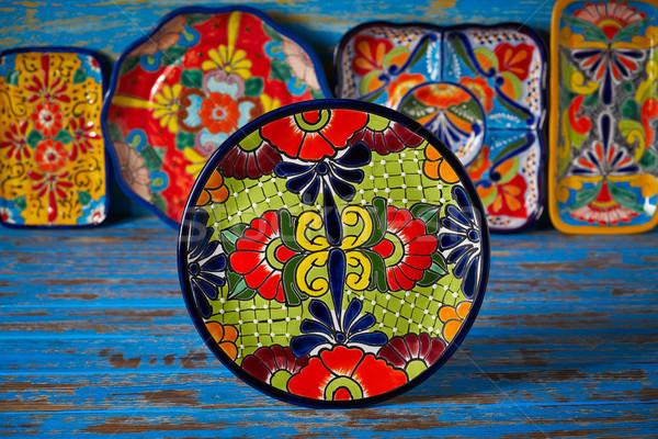 мексиканских Керамика стиль Мексика пластина стороны Сток-фото © lunamarina