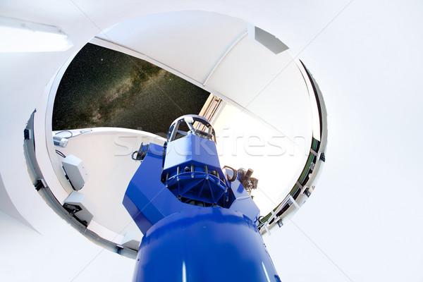 Stock photo: astronomical observatory telescope indoor night