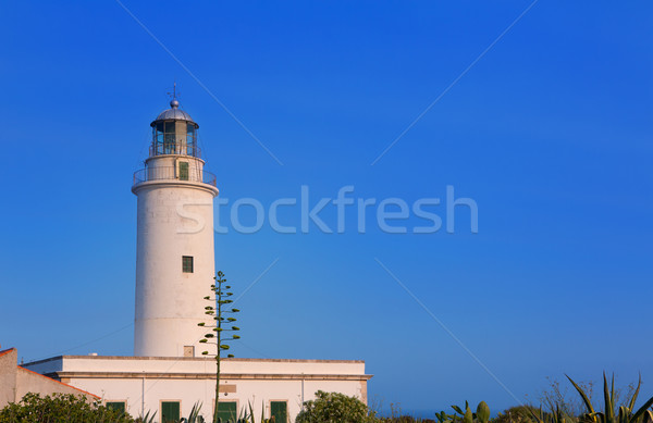 Formentera La Mola lighthouse at Balearic islands Stock photo © lunamarina