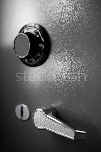 Safe gray steel box detail such a currency safety Stock photo © lunamarina