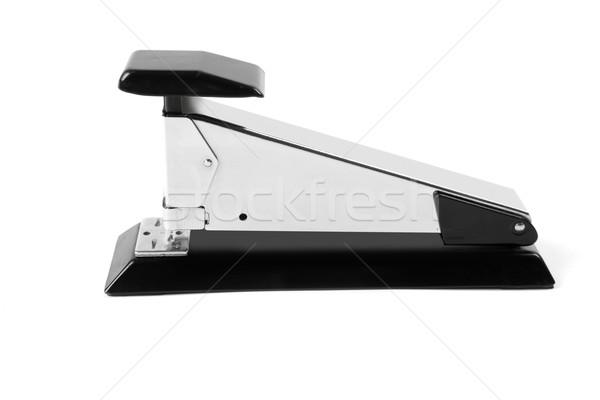 Zımba gümüş krom siyah beyaz arka plan Stok fotoğraf © lunamarina