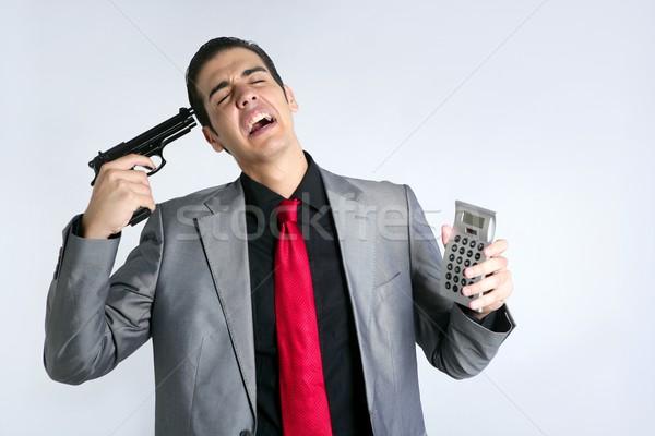 Stock fotó: üzletember · hivatalos · öltöny · rossz · hírek · jelentések · rossz