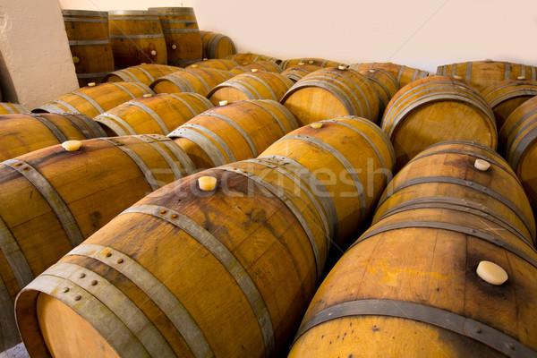 Wijn houten eiken wijnmakerij hout middellandse zee Stockfoto © lunamarina