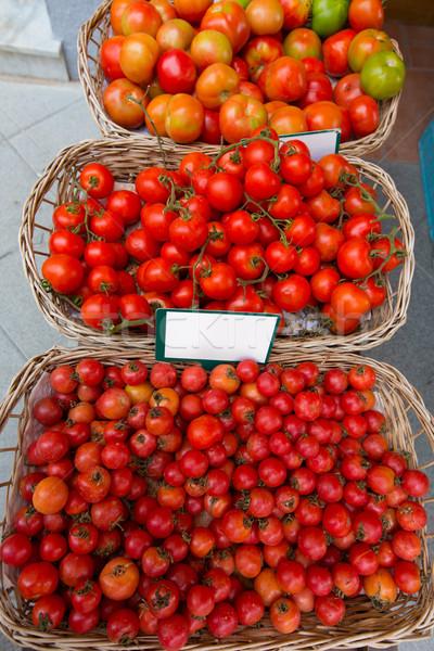 Mediterranean tomatoes in Balearic Islands market Stock photo © lunamarina