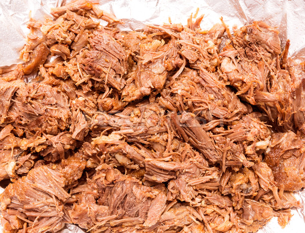 Barbacoa meat mexico style boiled cow meat Stock photo © lunamarina