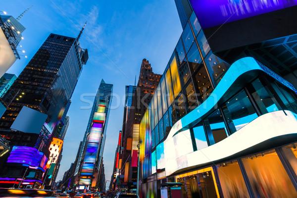 Times Square Manhattan New York deleted ads Stock photo © lunamarina