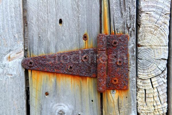 さびた 鉄 ヒンジ 風化した グレー ストックフォト © lunamarina