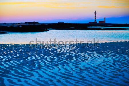 пляж канарейка острове закат Канарские острова Испания Сток-фото © lunamarina