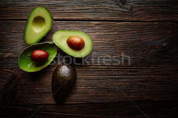 Сток-фото: авокадо · Cut · совета · древесины