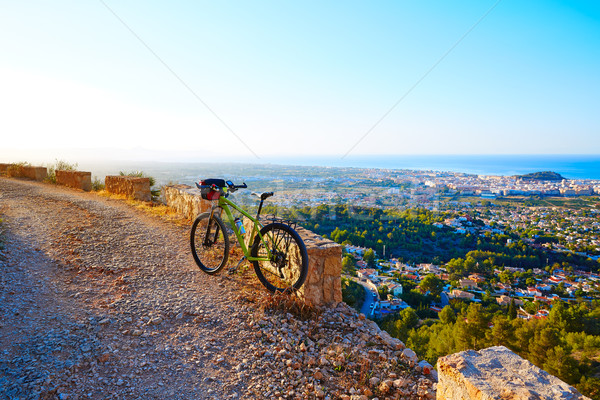 Mountain bike MTB Denia at Montgo track Spain Stock photo © lunamarina