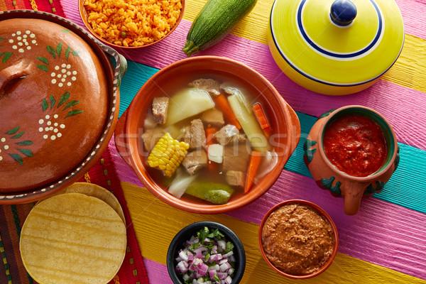 мексиканских говядины бульон таблице ресторан пластина Сток-фото © lunamarina
