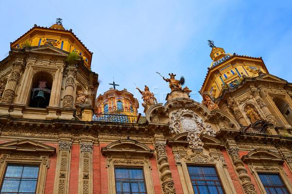 San Luis church facade in Seville of Spain Stock photo © lunamarina