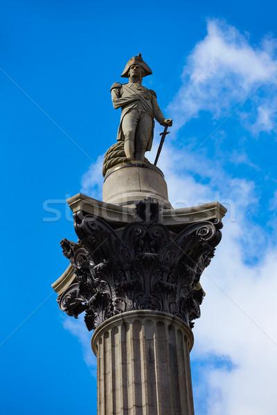 London Trafalgar Square Nelson column Stock photo © lunamarina