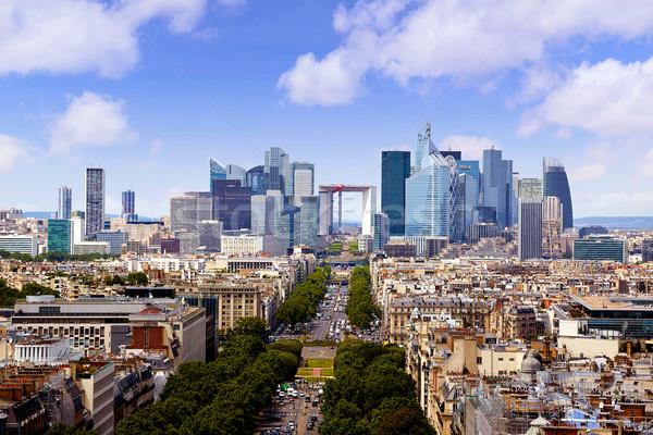 Paris skyline aerial view France Stock photo © lunamarina