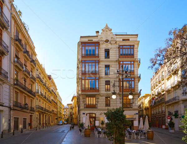 Valencia uitzicht op straat Spanje straat zomer Blauw Stockfoto © lunamarina